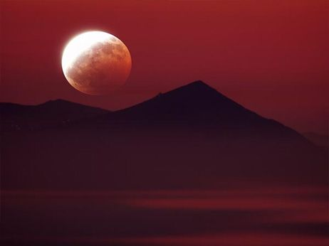 Lunar eclipse of super moon