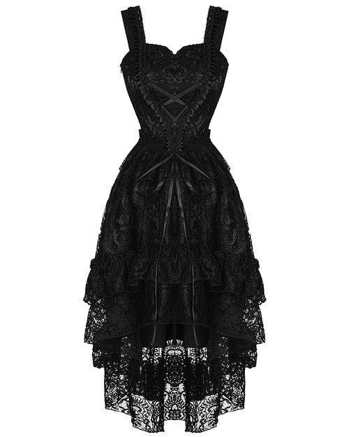 Dark In Love Gothic Evening Dress Black Lace Steampunk Victorian Wedding Prom
