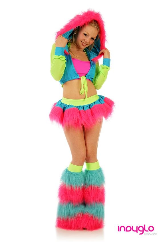 Neon Rave Outfit , GloRun , Like this color combo