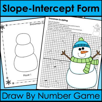 Slope Intercept Form Graphing Game Draw By Number Winter With