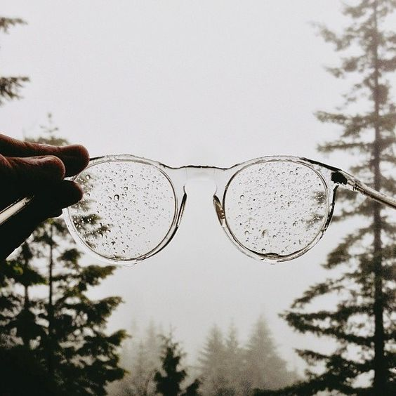 Rain speckled glasses (and those are 405's by the company I used to be California Regional Manager for, Anglo American Optical. They're hand-made in London.) ~ETS #angloamericanoptical #glasses #rain