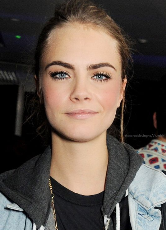 thick dark brows.... And I love you Cara!!
