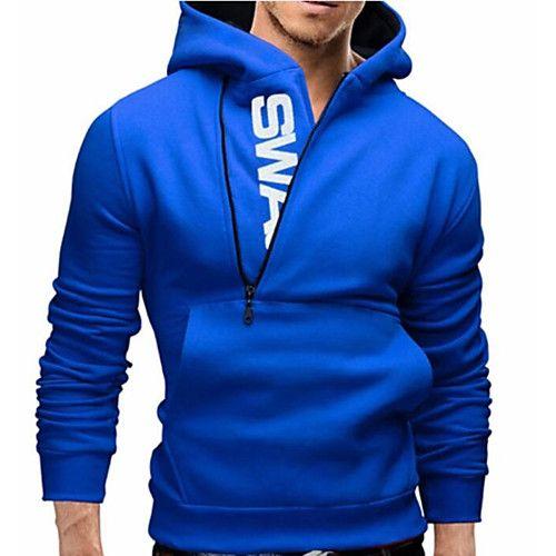 Homens de moda de gola alta esporte casuais camisola jaqueta casaco com capuz