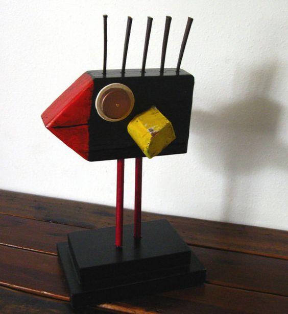 Black Bird Folk Art Assemblage With Vintage by LindaSheetsArt, $45.00
