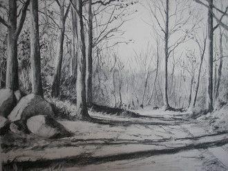 Chemin, charcoal, 2009