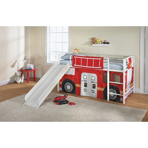 Curtains Ideas black friday curtains : Fire Truck Loft Bed with Slide Hunter saw this at KMart and has ...