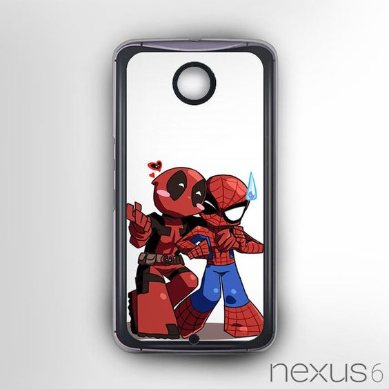 Deadpool Spider Man Comic Wallpaper AR For Nexus 6 Phonecases