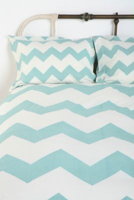 Drooling over this bedding: Guest Room, Urban Outfitters, Zigzag Sham, 3/4 Beds, Chevron Bedspread,  Comforter, Blue Chevron, Duvet Cover, Chevron Bedding