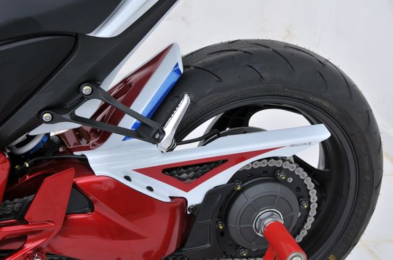 Tri colors rear hugger with chain guard