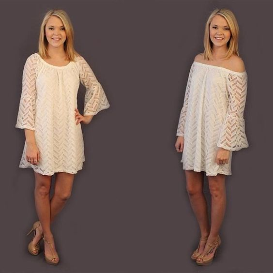 New dress alert! Available at 8pm cst tonight. This dress is available in sizes S,M,L,XL and can be worn on or off the shoulder. Perfect to dress up with pumps or down with sandals. Fully lined and a flattering cut.   (at http://www.hazelandolive.com)