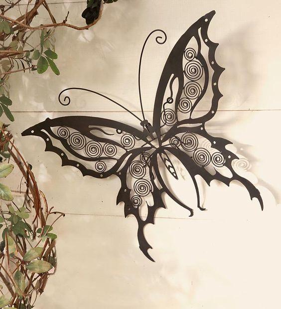 Iron Butterfly Wall Sculpture: