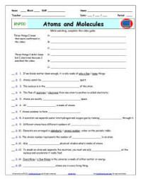 Printables Atoms And Molecules Worksheet bill nye atoms worksheet davezan davezan