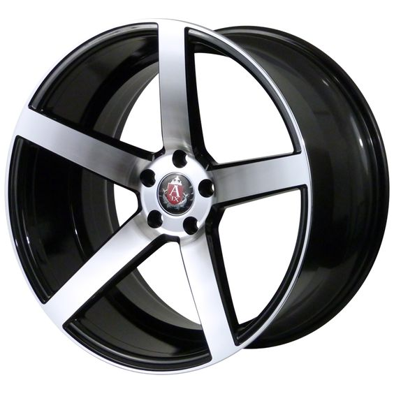 AXE EX18 GLOSS BLACK POLISHED FACE alloy wheels with stunning look for 5 studd wheels in GLOSS BLACK POLISHED FACE finish with 19 inch rim size