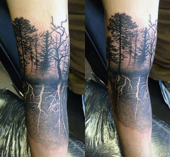 Topmenstattoos Tree Roots Tattoo Roots Tattoo Quarter Sleeve Tattoos
