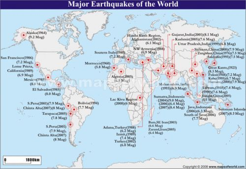 a map of where earthquakes happen Google Search Earth