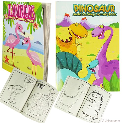 Jumbo Unicorn Flamingo Coloring Books Drawing Kits Coloring Books Wholesale Party Supplies