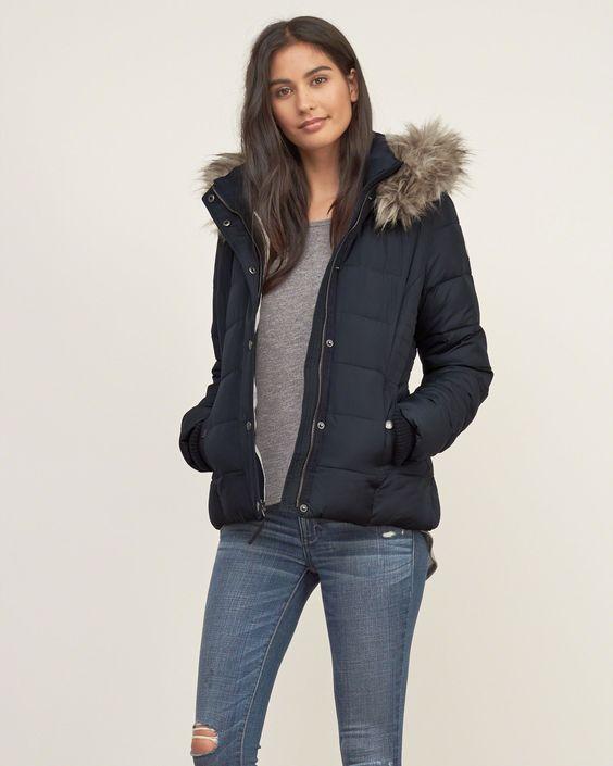 Womens A&ampF Premium Puffer Jacket | Womens Outerwear &amp Jackets | eu