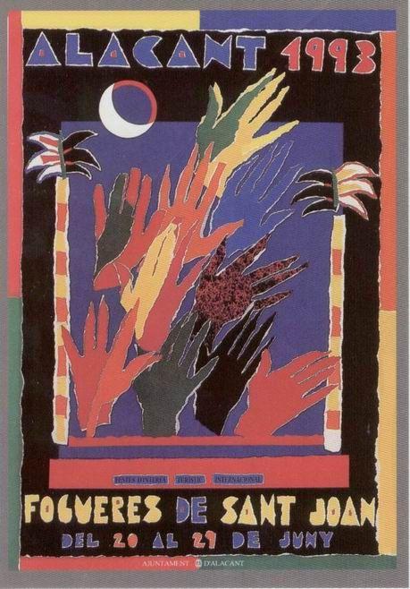 Cartel de Hogueras del año 1993 Alicante.