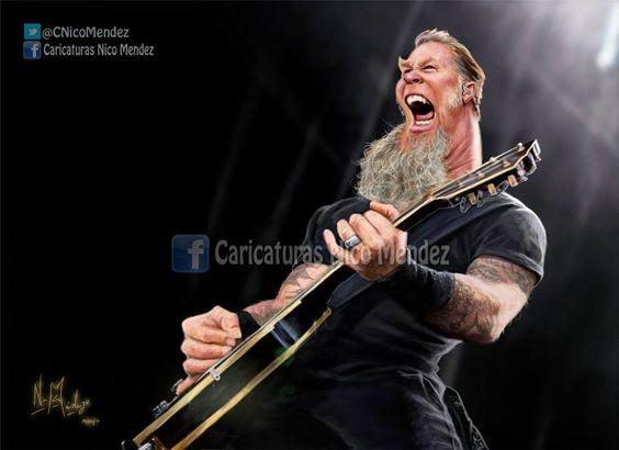 James hetfield, Metallica and James d'arcy on Pinterest
