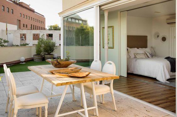 #Dormitorio con acceso  directo a una espectacular #terraza
