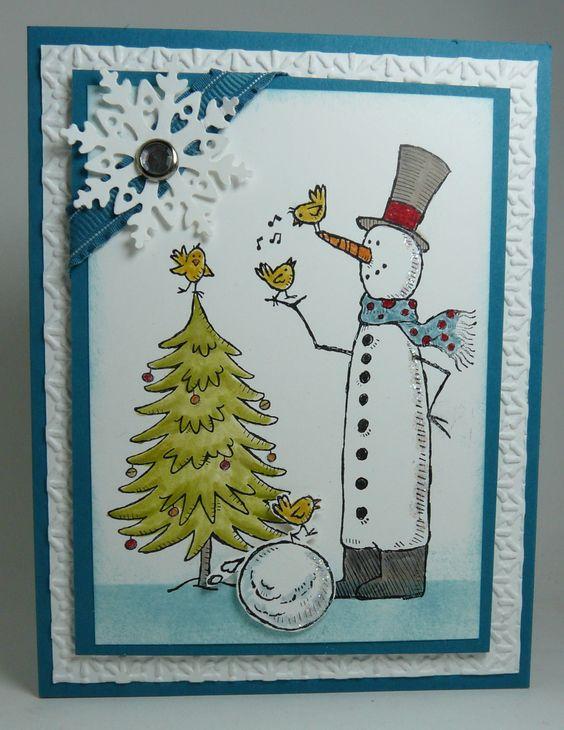 открытка снеговик к новому году этом