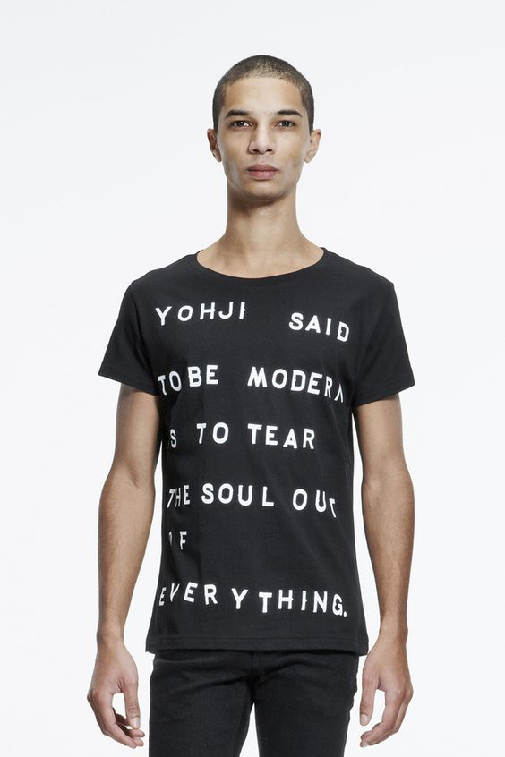 5PREVIEW FLAGSHIP STORE — AW2013/14: UNISEX tee - YOHJI
