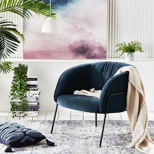 Home Republic Miami Chair Furniture Adairs In 2020 Petrol Blue Chair Blue Chair Chair