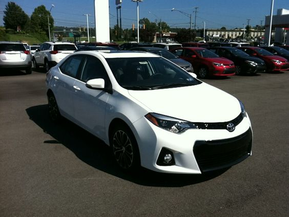 white 2015 toyota corolla s plus this is my new car but in black yes pinterest cars. Black Bedroom Furniture Sets. Home Design Ideas