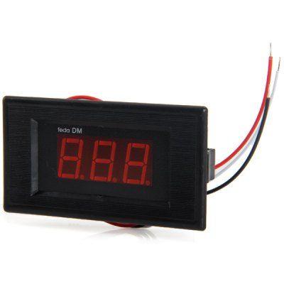 V75D 3 Digital 0.56 inch Red LED 0 - 100V DC Voltmeter Module Fine Adjustment for DIY Project