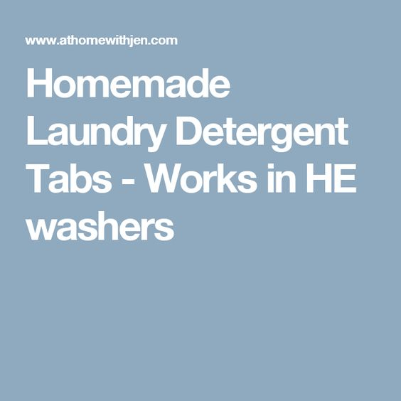 Homemade Laundry Detergent Tabs - Works in HE washers