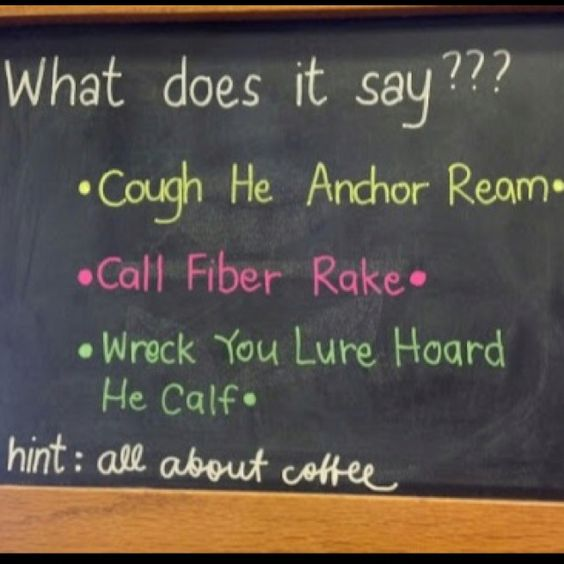 Play on words at the Coffee Bean & Tea Leaf. Cute.