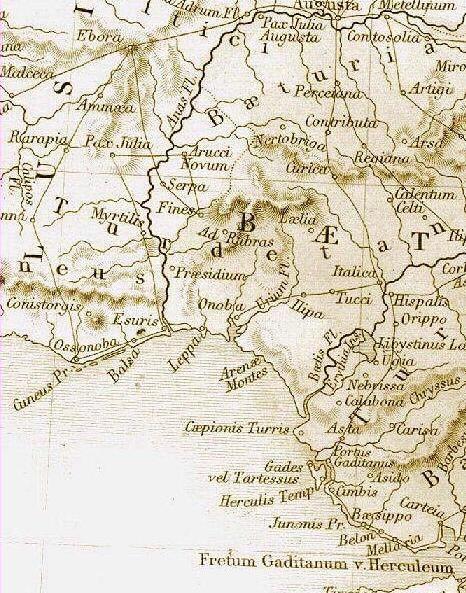 Mapa romano del Golfo de Huelva.  File:MapaRomano-Golfo de Cádis.jpg