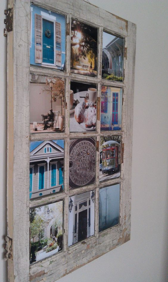 I want some of these salvaged windows to use as photo frames for our road trips.  Wish I had some.
