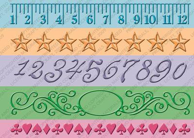 Cuttlebug® 7-inch Embossing Borders, Measure by Measure