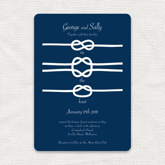 tie the knot printable wedding invitation from 'i do' it yourself