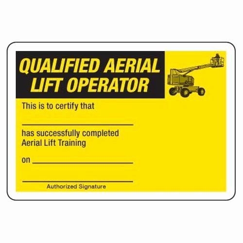 Equipment Operator Certification Card Template Beautiful Scissor Lift Certification Card Templat Card Templates Printable Cover Letter For Resume Card Template