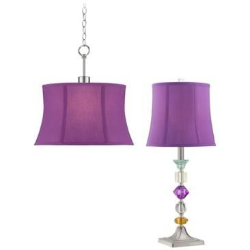 purple bijoux table lamp and swag set lamps plus open box outlet site it must be purple. Black Bedroom Furniture Sets. Home Design Ideas