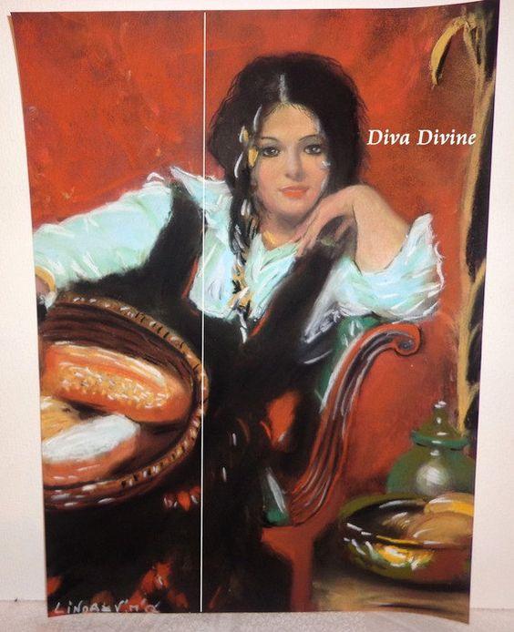 Décoration Bohème Gypsy  LINDA    Pastel Sec par DivaDivinePastel