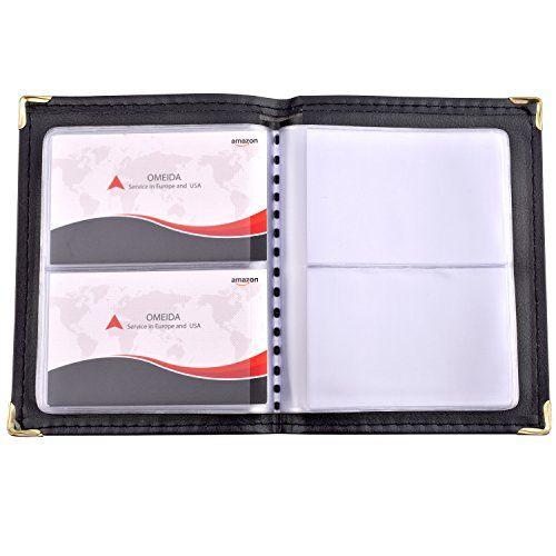 Maxgear Professional Leather Journal Business Card Book Name Card Book Small Business Card Hold Small Business Cards Business Card Book Business Card Organizer