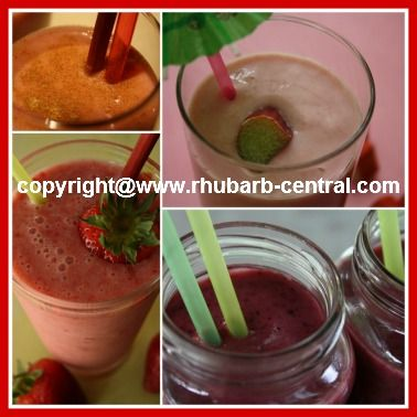 Rhubarb Drinks - Recipes for Rhubarb Beverages/Slushes/Cocktails/Sodas/Smoothies