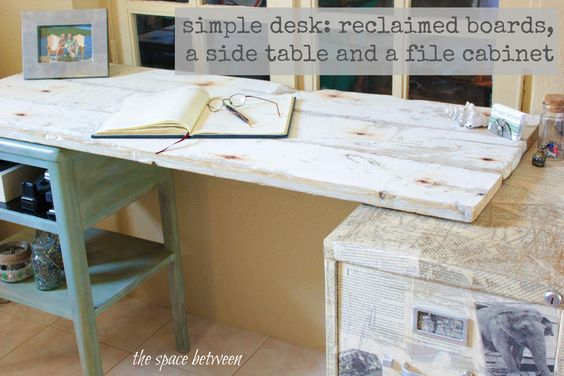 use one 16 foot long board to make a desk top