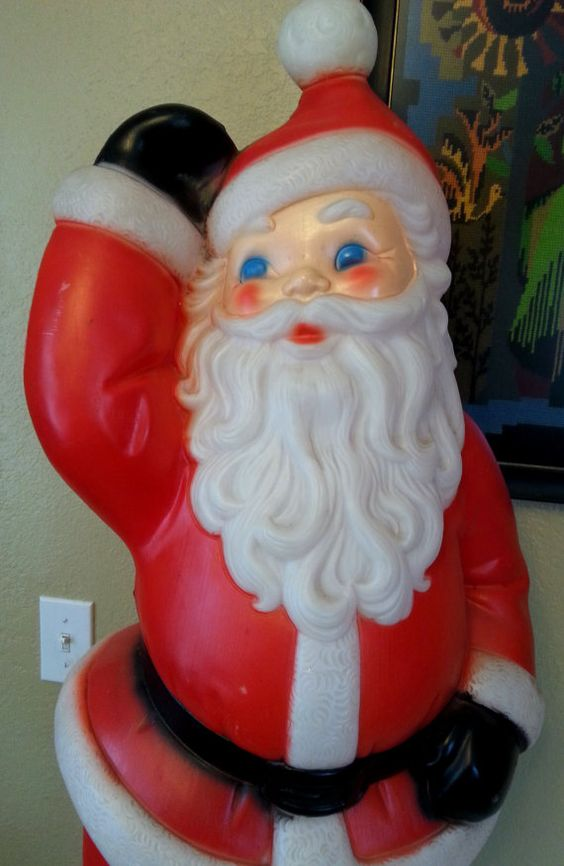 Vintage Blow Mold Santa on Etsy, $49.95