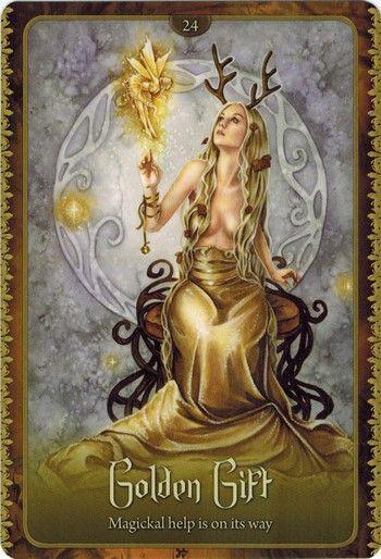 Bài viết Lá Golden Gift - Wild Wisdom of The Faery Oracle bài tarot