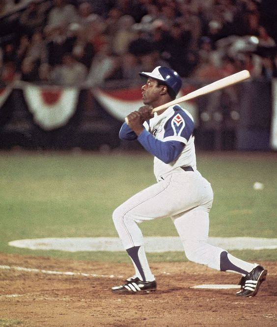 """On April 8th 1974, Henry (""""Hank"""") Aaron broke Babe Ruth's major league baseball record, by hitting his 715th home run in a game at Atlanta stadium against the Los Angeles Dodgers."""