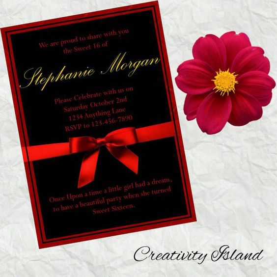 Check out this item in my Etsy shop https://www.etsy.com/listing/462426322/red-black-and-gold-stephanie-invitations