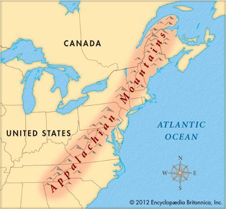 Appalachian Mountains On A Map Of Appalachia