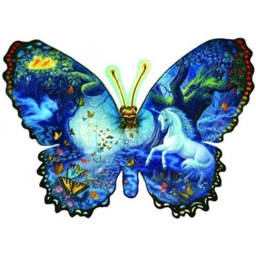 butterfly shaped jigsaw puzzle 1000 piece