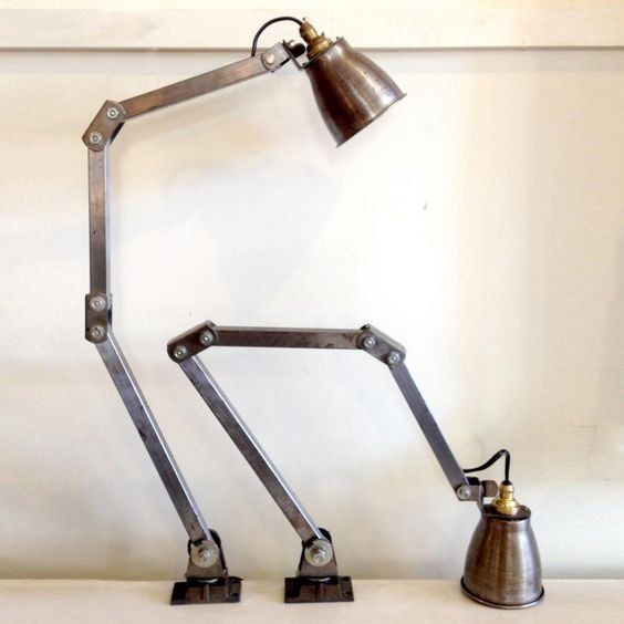 Vintage-Anglepoise-style-wall-lights Vintage Lamps Pinterest Vintage, Industrial and Lights