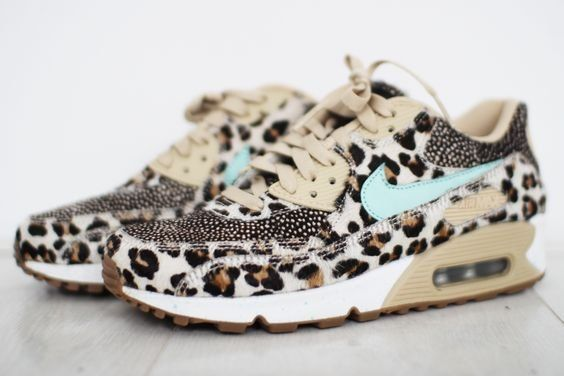 Shoes | Sneakers | Leopard print | Nike | Beige | Blue