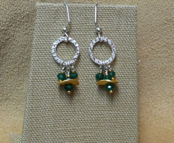 MacDesigns  Emerald Vermeil  and Metal Clay by macdesignsgallery, $98.00